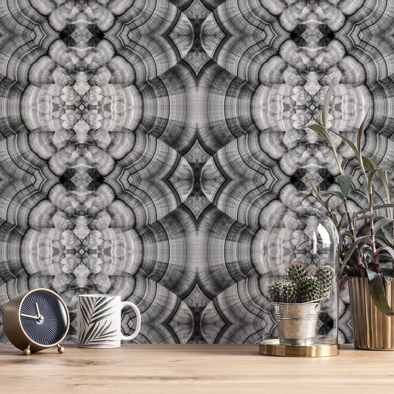 Malachite - Negro - Trendy Custom Wallpaper | Contemporary Wallpaper Designs | The Detroit Wallpaper Co.