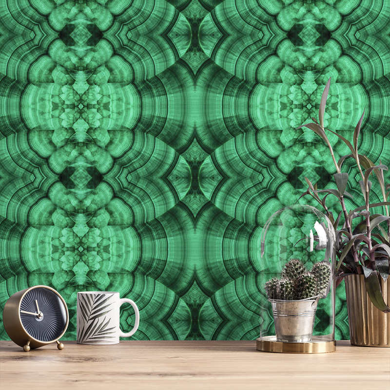Malachite - Verde - Trendy Custom Wallpaper | Contemporary Wallpaper Designs | The Detroit Wallpaper Co.