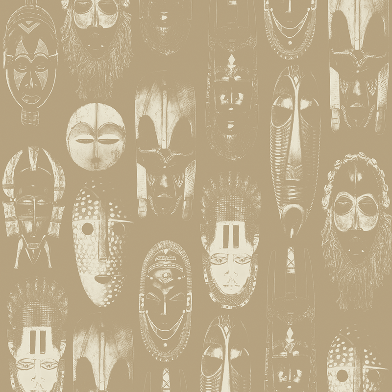 Masked - Earth - Trendy Custom Wallpaper | Contemporary Wallpaper Designs | The Detroit Wallpaper Co.