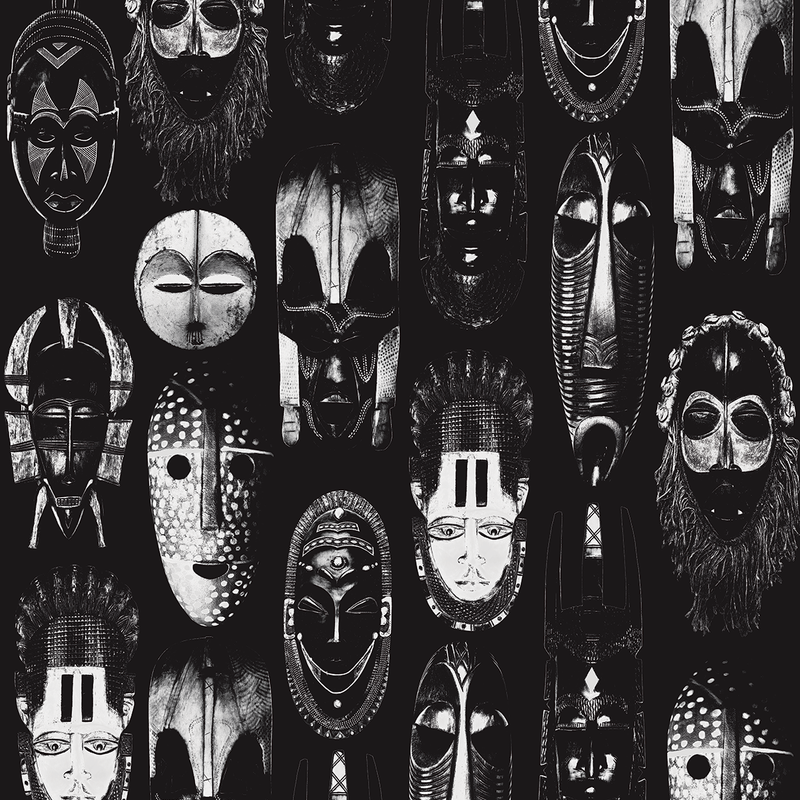 Masked - Mamba - Trendy Custom Wallpaper | Contemporary Wallpaper Designs | The Detroit Wallpaper Co.