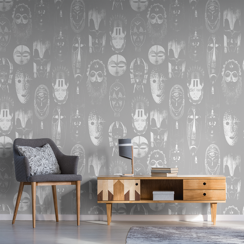 Masked - Whisper - Trendy Custom Wallpaper | Contemporary Wallpaper Designs | The Detroit Wallpaper Co.