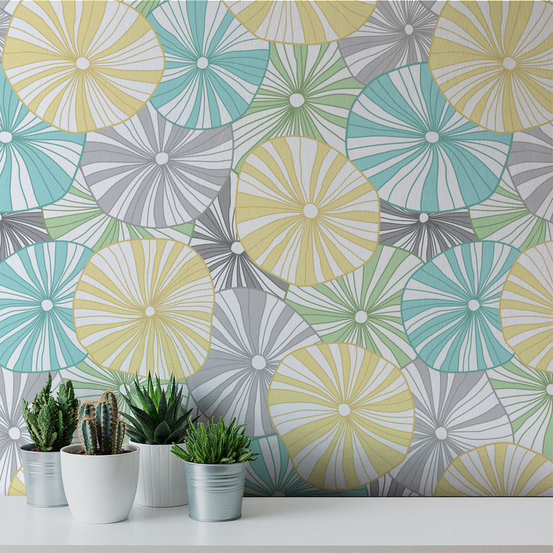 Mushroom - Bright - Trendy Custom Wallpaper | Contemporary Wallpaper Designs | The Detroit Wallpaper Co.