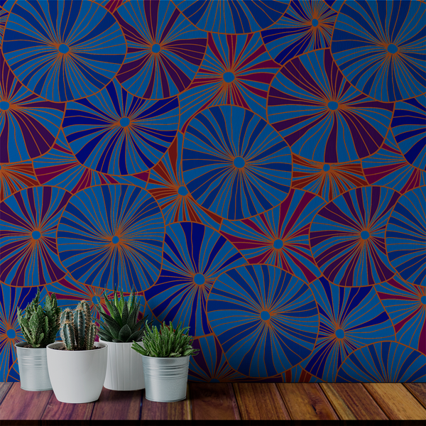 Mushroom - Jewel - Trendy Custom Wallpaper | Contemporary Wallpaper Designs | The Detroit Wallpaper Co.