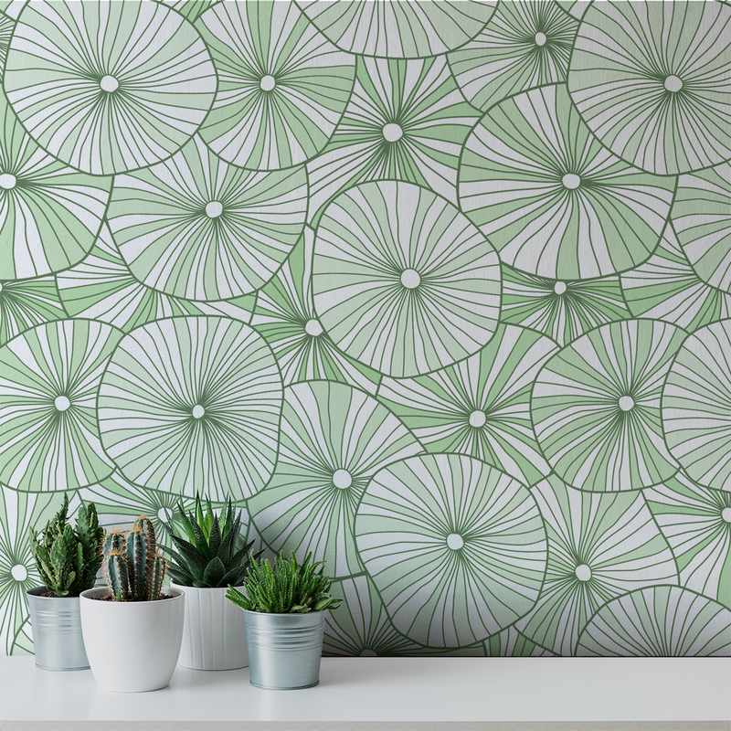 Mushroom - Succulent - Trendy Custom Wallpaper | Contemporary Wallpaper Designs | The Detroit Wallpaper Co.