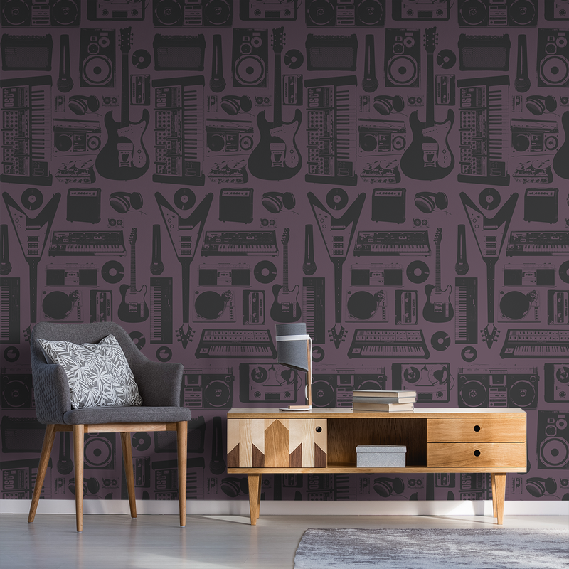 MusicWall - Alternative - Trendy Custom Wallpaper | Contemporary Wallpaper Designs | The Detroit Wallpaper Co.