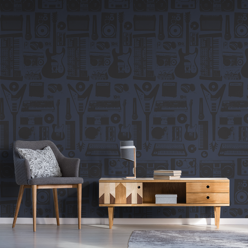 MusicWall - Electronic - Trendy Custom Wallpaper | Contemporary Wallpaper Designs | The Detroit Wallpaper Co.