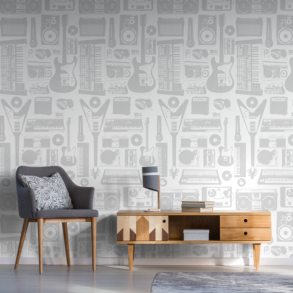 MusicWall - Hip-Hop - Trendy Custom Wallpaper | Contemporary Wallpaper Designs | The Detroit Wallpaper Co.