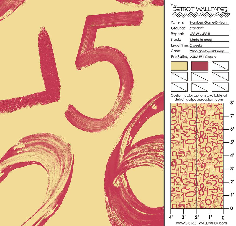 Numbers Game - Division <br> Heidelberg Project - Trendy Custom Wallpaper | Contemporary Wallpaper Designs | The Detroit Wallpaper Co.