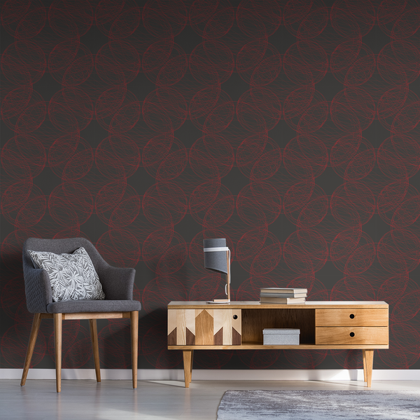 Orbital - Red Giant - Trendy Custom Wallpaper | Contemporary Wallpaper Designs | The Detroit Wallpaper Co.