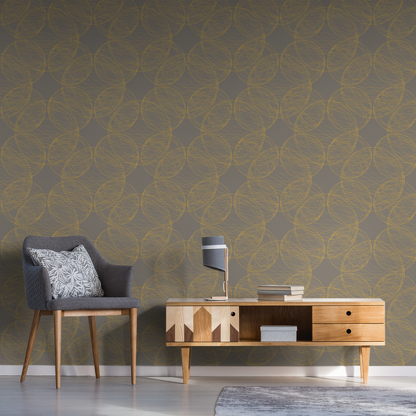 Orbital - Solar Flare - Trendy Custom Wallpaper | Contemporary Wallpaper Designs | The Detroit Wallpaper Co.