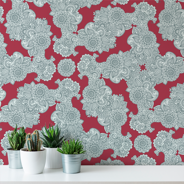 Paisley - Festival - Trendy Custom Wallpaper | Contemporary Wallpaper Designs | The Detroit Wallpaper Co.