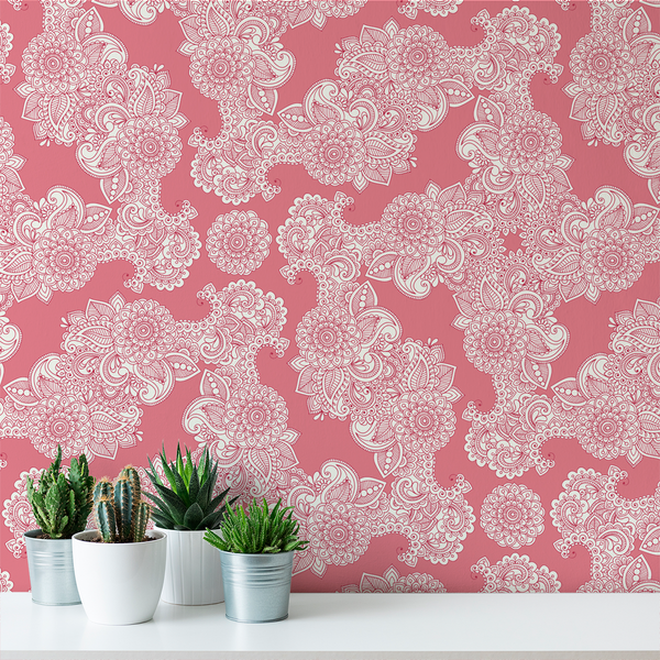 Paisley - Taffy - Trendy Custom Wallpaper | Contemporary Wallpaper Designs | The Detroit Wallpaper Co.