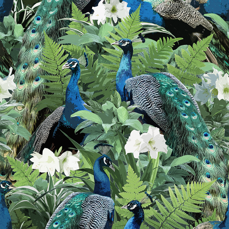 Peacock - India - Trendy Custom Wallpaper | Contemporary Wallpaper Designs | The Detroit Wallpaper Co.