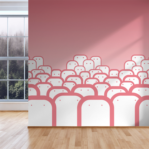 Peepers - Blossom - Trendy Custom Wallpaper | Contemporary Wallpaper Designs | The Detroit Wallpaper Co.