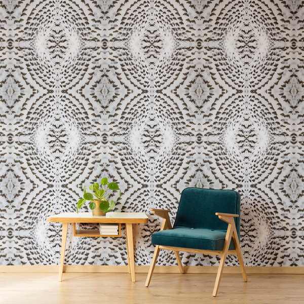 Plume - Silent Hunter - Trendy Custom Wallpaper | Contemporary Wallpaper Designs | The Detroit Wallpaper Co.