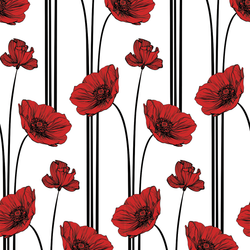 Poppy - Classic - Trendy Custom Wallpaper | Contemporary Wallpaper Designs | The Detroit Wallpaper Co.