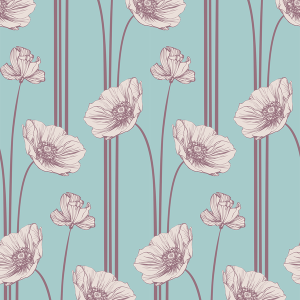 Poppy - Confection - Trendy Custom Wallpaper | Contemporary Wallpaper Designs | The Detroit Wallpaper Co.