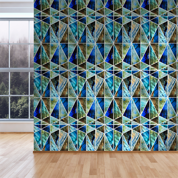 Prism - Labradorite - Trendy Custom Wallpaper | Contemporary Wallpaper Designs | The Detroit Wallpaper Co.