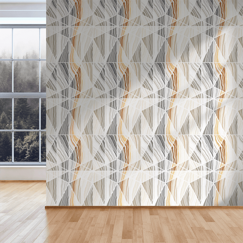 Prism - Agate - Trendy Custom Wallpaper | Contemporary Wallpaper Designs | The Detroit Wallpaper Co.