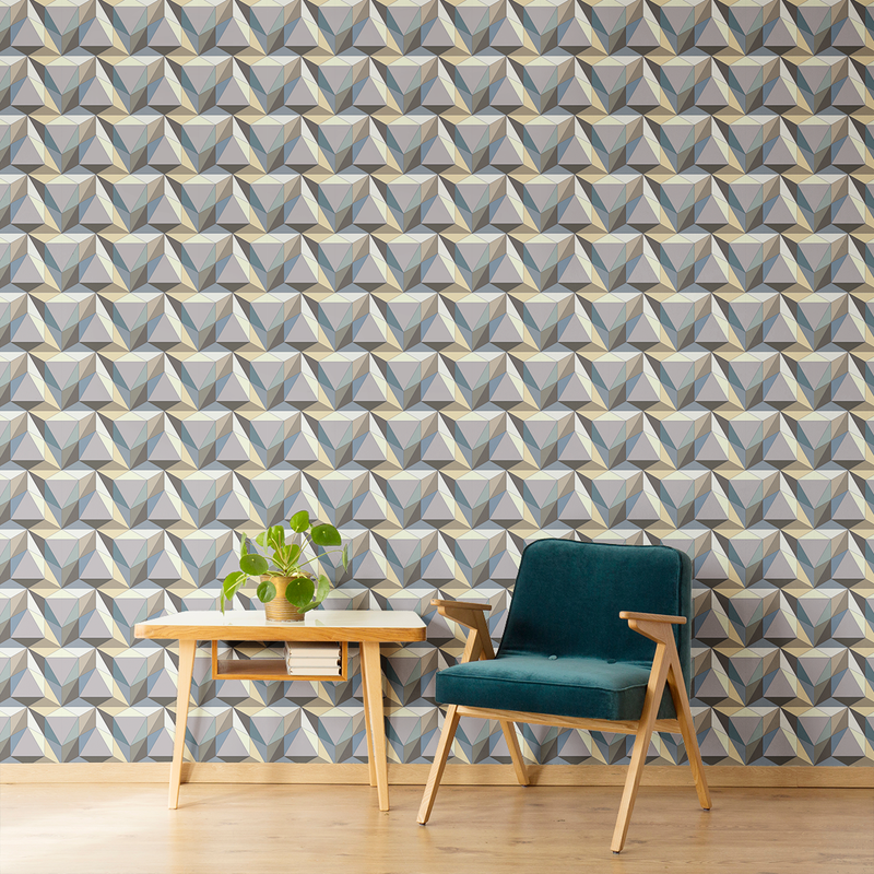 Pyramid - Apex - Trendy Custom Wallpaper | Contemporary Wallpaper Designs | The Detroit Wallpaper Co.