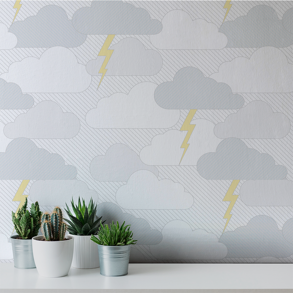 Rainy Days & Mondays - Gust - Trendy Custom Wallpaper | Contemporary Wallpaper Designs | The Detroit Wallpaper Co.