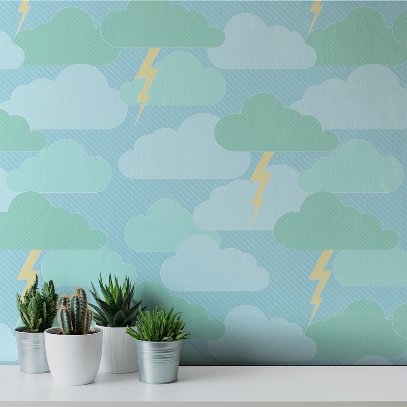 Rainy Days & Mondays - Monsoon - Trendy Custom Wallpaper | Contemporary Wallpaper Designs | The Detroit Wallpaper Co.