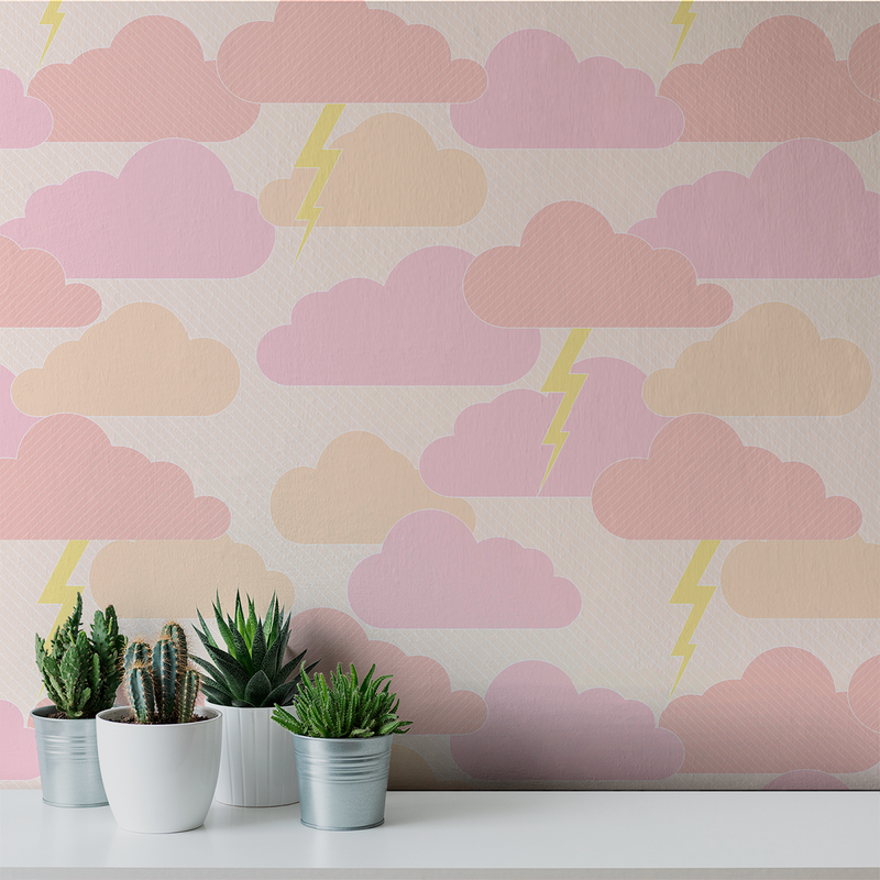 Rainy Days & Mondays - Sunset - Trendy Custom Wallpaper | Contemporary Wallpaper Designs | The Detroit Wallpaper Co.