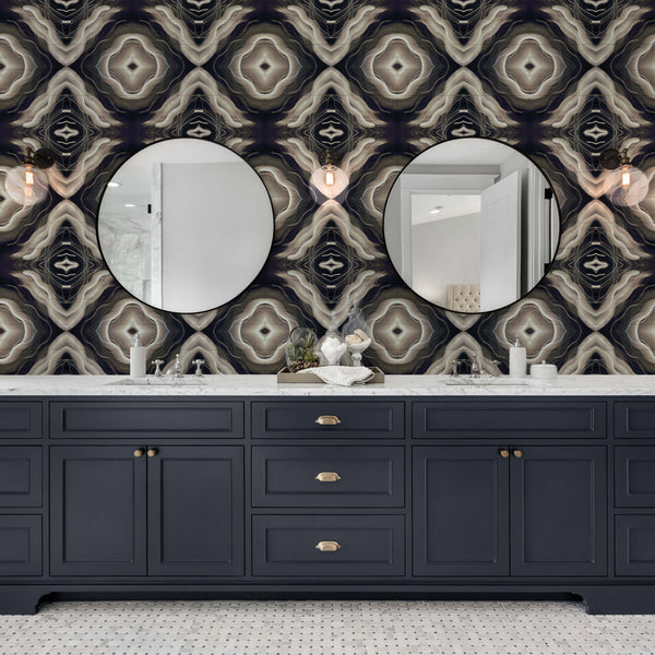 Reno - Moonlit - Trendy Custom Wallpaper | Contemporary Wallpaper Designs | The Detroit Wallpaper Co.