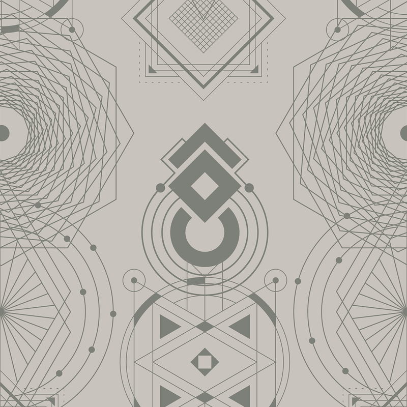Sacred Geometry - Balance - Trendy Custom Wallpaper | Contemporary Wallpaper Designs | The Detroit Wallpaper Co.