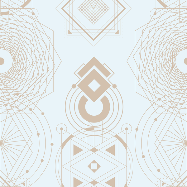 Sacred Geometry - Believe - Trendy Custom Wallpaper | Contemporary Wallpaper Designs | The Detroit Wallpaper Co.