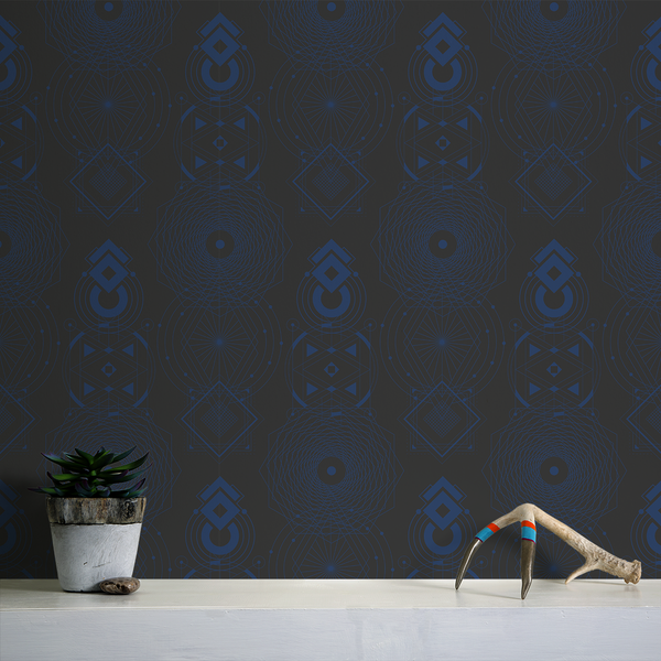 Sacred Geometry - Eternity - Trendy Custom Wallpaper | Contemporary Wallpaper Designs | The Detroit Wallpaper Co.