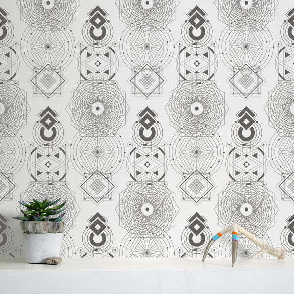 Sacred Geometry - Zen - Trendy Custom Wallpaper | Contemporary Wallpaper Designs | The Detroit Wallpaper Co.