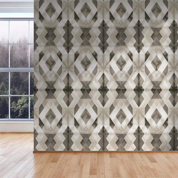 Shibori - Almond - Trendy Custom Wallpaper | Contemporary Wallpaper Designs | The Detroit Wallpaper Co.