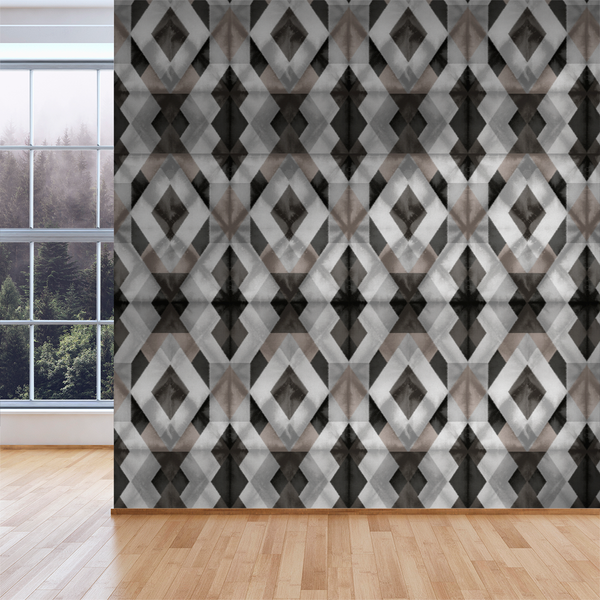 Shibori - Chocolate - Trendy Custom Wallpaper | Contemporary Wallpaper Designs | The Detroit Wallpaper Co.