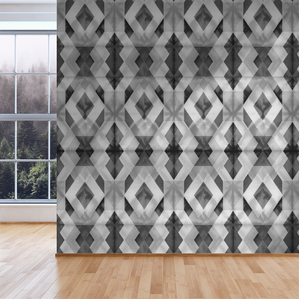 Shibori - Graphite - Trendy Custom Wallpaper | Contemporary Wallpaper Designs | The Detroit Wallpaper Co.