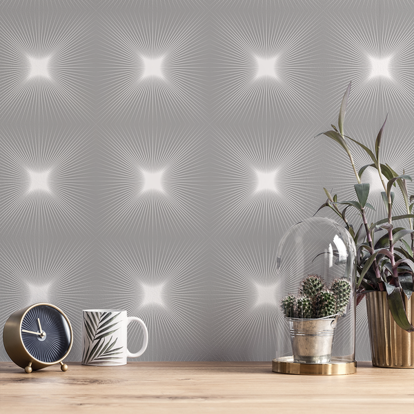 Shine - Bright - Trendy Custom Wallpaper | Contemporary Wallpaper Designs | The Detroit Wallpaper Co.