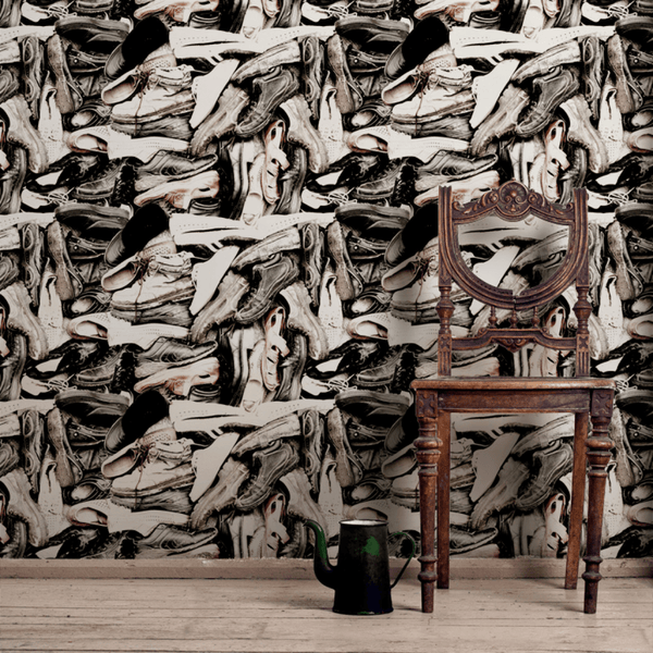 Shoe Tree - Trendy Custom Wallpaper | Contemporary Wallpaper Designs | The Detroit Wallpaper Co.