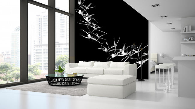 Soaring Orchids <br> Brenda Rosenberg - Trendy Custom Wallpaper | Contemporary Wallpaper Designs | The Detroit Wallpaper Co.