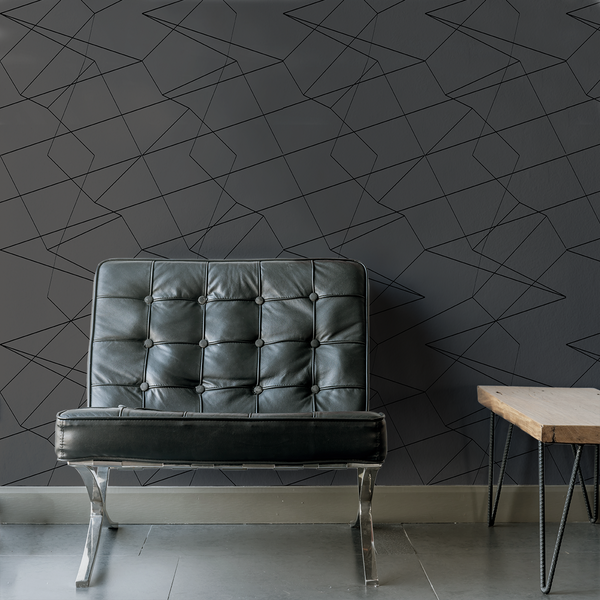Spatial - Cut - Trendy Custom Wallpaper | Contemporary Wallpaper Designs | The Detroit Wallpaper Co.