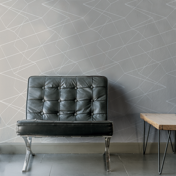 Spatial - Toupe - Trendy Custom Wallpaper | Contemporary Wallpaper Designs | The Detroit Wallpaper Co.