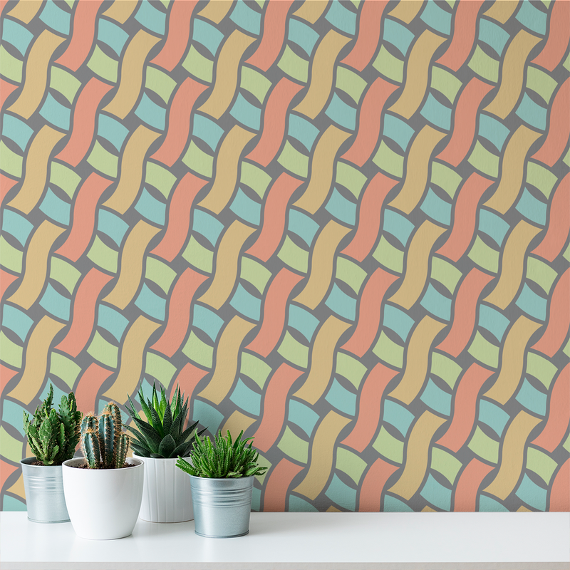 Spot - Ribbon - Trendy Custom Wallpaper | Contemporary Wallpaper Designs | The Detroit Wallpaper Co.