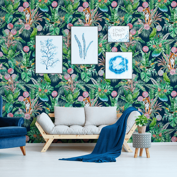 Stalk - Khan - Trendy Custom Wallpaper | Contemporary Wallpaper Designs | The Detroit Wallpaper Co.