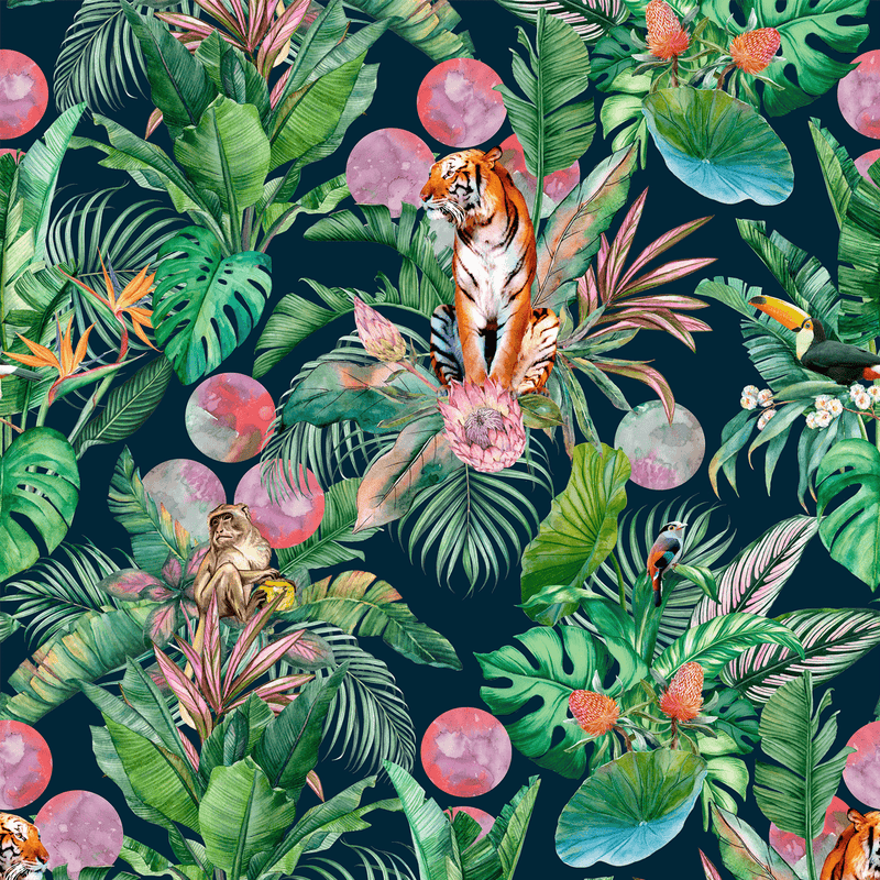 Stalk - Jungle - Trendy Custom Wallpaper | Contemporary Wallpaper Designs | The Detroit Wallpaper Co.