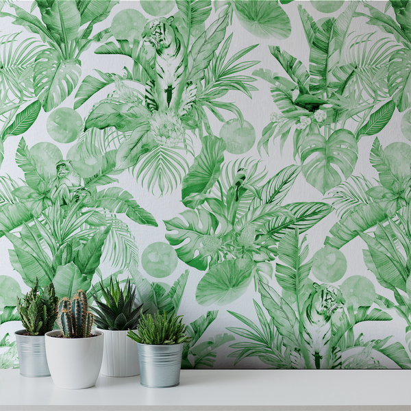 Stalk - Garden - Trendy Custom Wallpaper | Contemporary Wallpaper Designs | The Detroit Wallpaper Co.