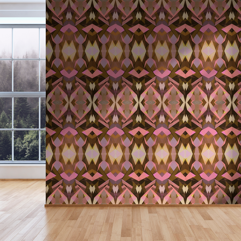 Stellate - Coral - Trendy Custom Wallpaper | Contemporary Wallpaper Designs | The Detroit Wallpaper Co.