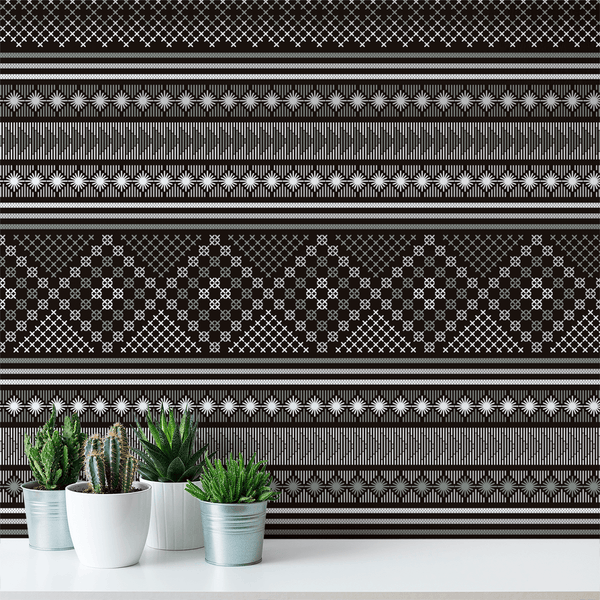Stitch - Stratus - Trendy Custom Wallpaper | Contemporary Wallpaper Designs | The Detroit Wallpaper Co.
