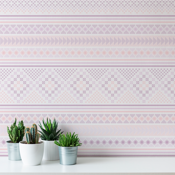 Stitch - Frosting - Trendy Custom Wallpaper | Contemporary Wallpaper Designs | The Detroit Wallpaper Co.