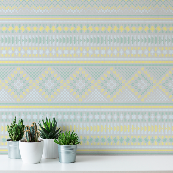 Stitch - Marietta - Trendy Custom Wallpaper | Contemporary Wallpaper Designs | The Detroit Wallpaper Co.