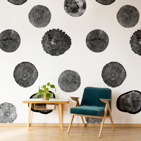 Stumped - Black - Trendy Custom Wallpaper | Contemporary Wallpaper Designs | The Detroit Wallpaper Co.
