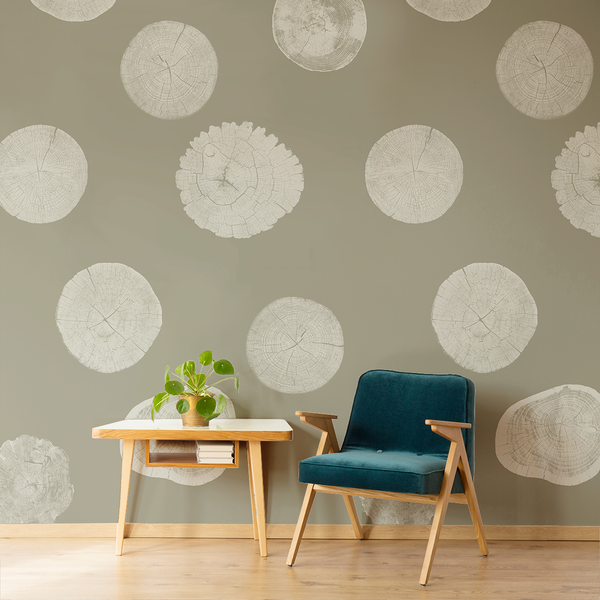 Stumped - Trailhead - Trendy Custom Wallpaper | Contemporary Wallpaper Designs | The Detroit Wallpaper Co.